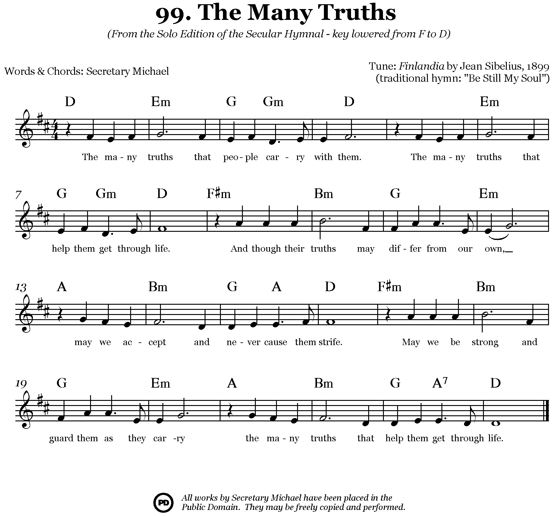The many truths singing along to a simple chorded melody like this is an ideal way to develop your harmonizing skills hexwebz Images